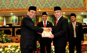 Penyerahan LHP LKPD Prov Riau TA 2014